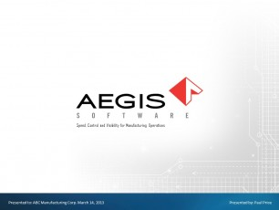 AEGIS Software presentation